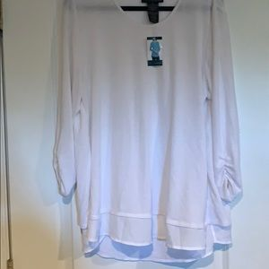 NEVER WORN. WITH TAGS. White blouse